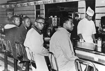 Resultado de imagem para On February 1, 1960, four students from an all-black college